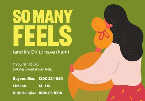 If you're not OK, talking about it can help.